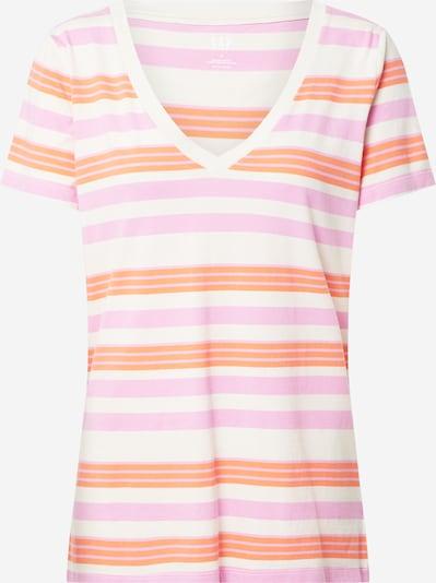 GAP Shirt 'SS VINT RIB VNK STR' in de kleur Beige / Lichtblauw / Pink: Vooraanzicht