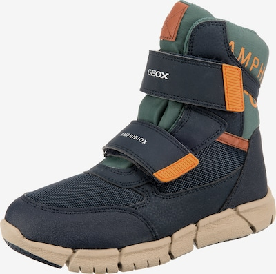 GEOX Schuhe 'ANKLE BOOTS' in navy / opal / orange, Produktansicht