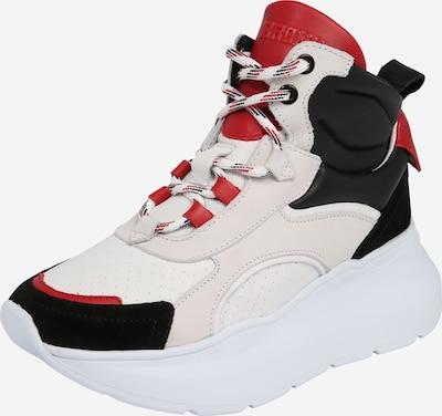BRONX Sneakers hoog 'BX 1585-grayson' in de kleur Rood / Zwart / Wit, Productweergave