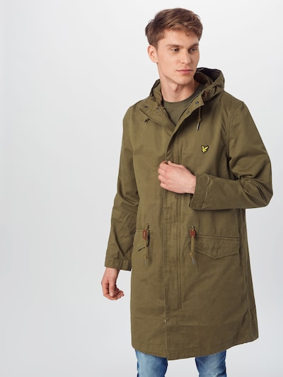 Lyle & Scott Parka 'Fishtail' in grün: Frontalansicht