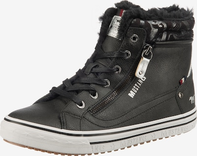 MUSTANG High-top trainers in Taupe / Anthracite / Silver, Item view