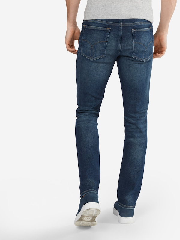 Jeans Straightnova Blue Calvin Denim Klein Jean En Str' Bleu 'slim f7bygvY6