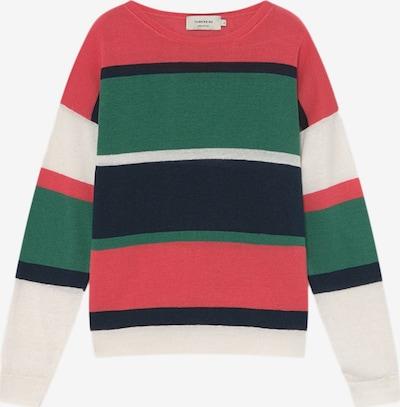 Thinking MU Pullover in grün / rot / weiß, Produktansicht