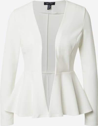 NEW LOOK Blazer 'PEPLUM' in weiß, Produktansicht