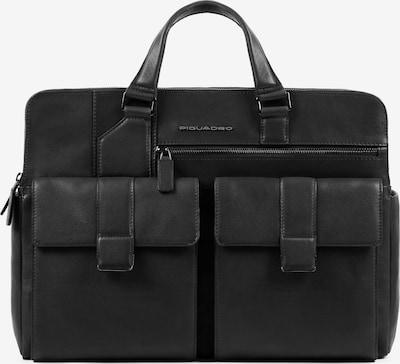 Piquadro Aktentasche in schwarz: Frontalansicht