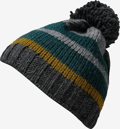 DÖLL Bommelmütze in gelb / hellgrau / dunkelgrau / smaragd, Produktansicht