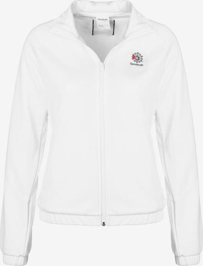 REEBOK Sportief sweatvest in de kleur Nachtblauw / Rood / Wit, Productweergave