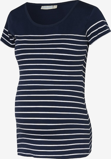 Tricou JoJo Maman Bébé pe albastru / alb, Vizualizare produs