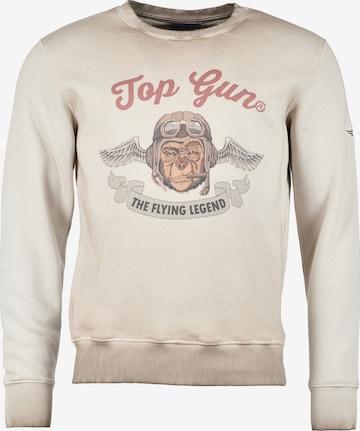 TOP GUN Sweatshirt 'Smoking Monkey' in Beige