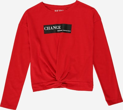 BLUE SEVEN Shirt in de kleur Vuurrood / Zwart / Wit, Productweergave