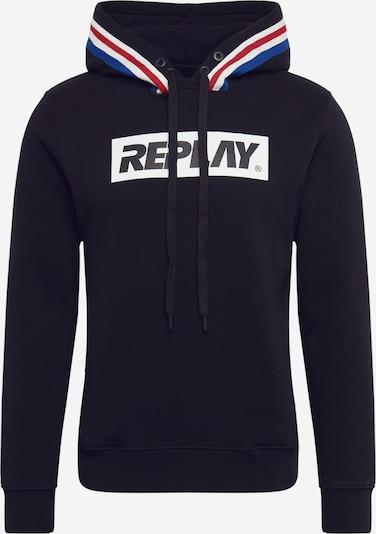 REPLAY Sweat-shirt en noir, Vue avec produit