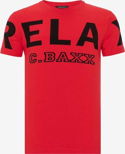 CIPO & BAXX T-Shirt in rot / schwarz, Produktansicht