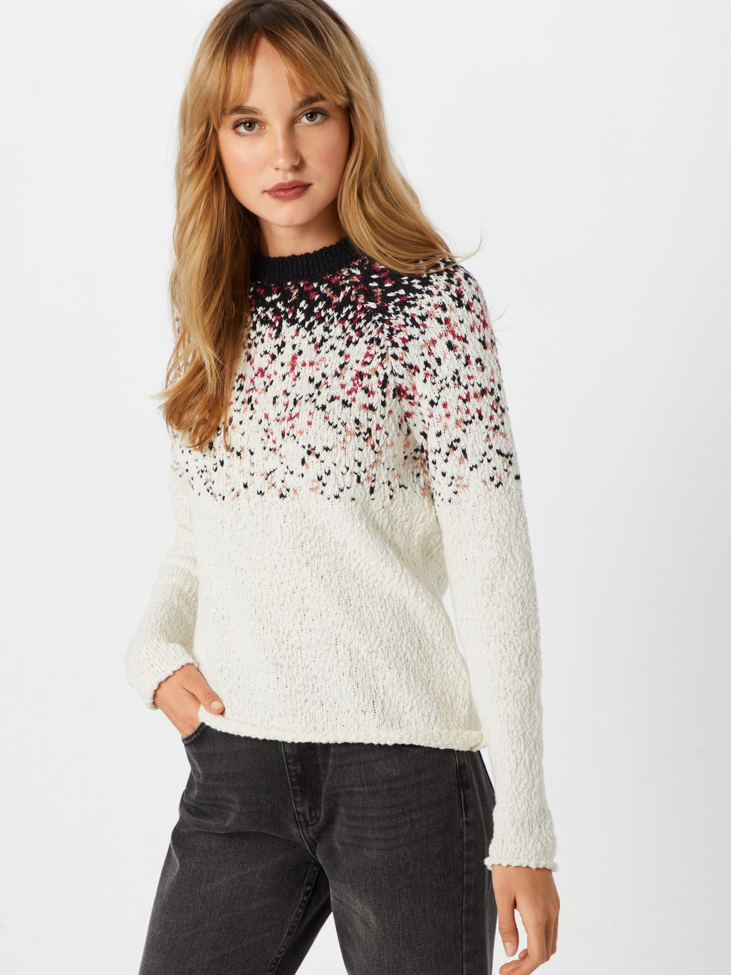 Pull 'pixel Knit' En over Blanc Review GrenadineNoir Naturel 0PnwOk