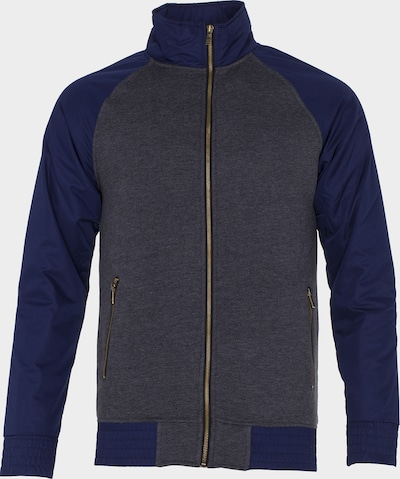 PLUS EIGHTEEN Sweatjacke in blau / dunkelgrau, Produktansicht