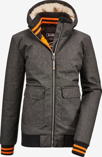KILLTEC Jacke 'Bantry' in anthrazit / orange / schwarz, Produktansicht