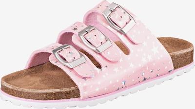 SUPERSOFT by Indigo Pantoletten mit Silbersternchen in pink / rosa / silber, Produktansicht