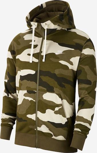 Nike Sportswear Hoodie 'Sportswear Club Fleece' in braun / grün, Produktansicht