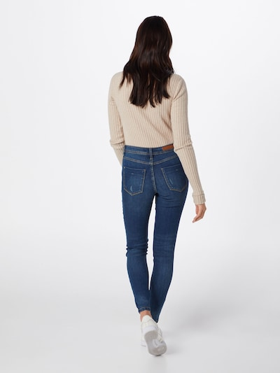 JACQUELINE de YONG Jeans 'JDYMAGIC SKINNY RW MEDIUM BLUE NOOS DNM' in blue denim: Rückansicht