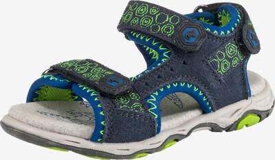 LURCHI Sandale in blau / taubenblau / limette, Produktansicht