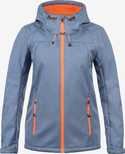 DESIRES Softshelljacke 'Soley' in blau / orange, Produktansicht