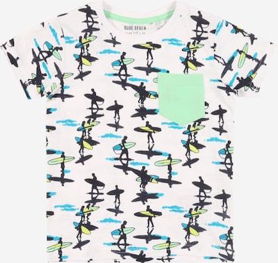 BLUE SEVEN T-Shirt in grün / schwarz / weiß, Produktansicht