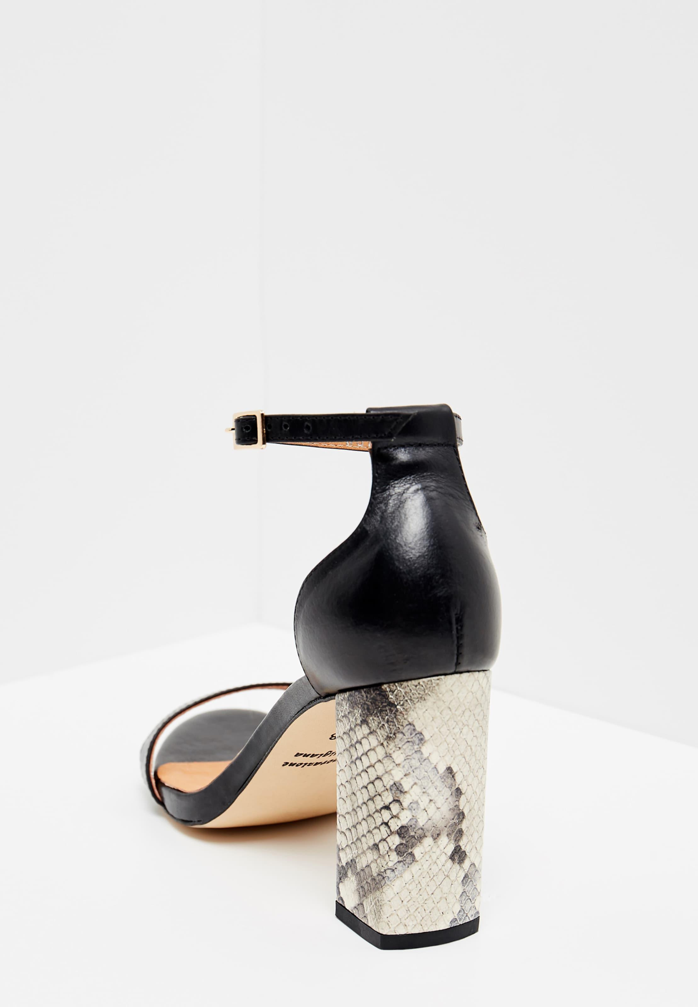 Risa Noir Lanières Sandales En À XPikZOTu