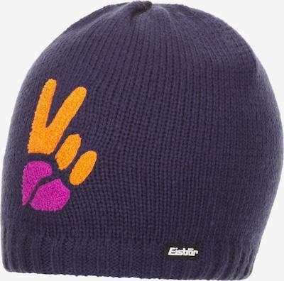 Eisbär Beanie in aubergine / mandarine / dunkelpink, Produktansicht