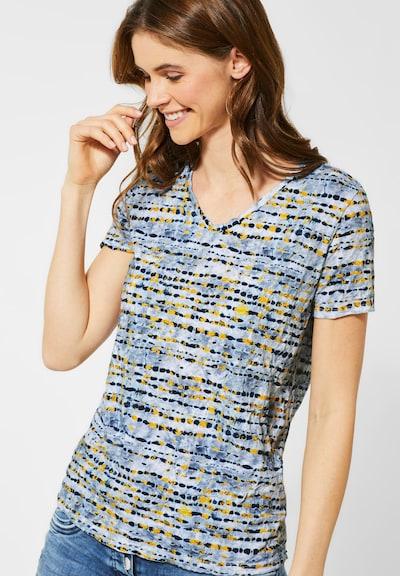 CECIL T-Shirt mit Muster in blau / gelb: Frontalansicht
