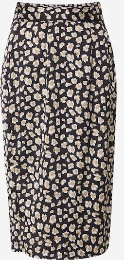 Boohoo Rock 'Smudge Print Belted Midi Skirt' in beige / schwarz, Produktansicht