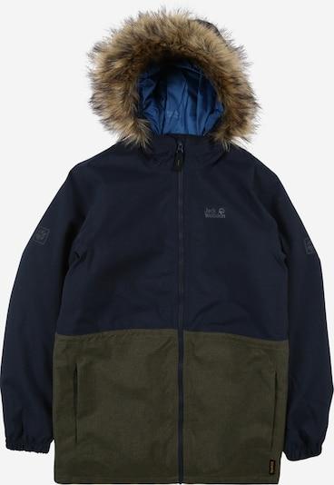 JACK WOLFSKIN Ulkoilutakki 'BANDAI' värissä yönsininen / khaki, Tuotenäkymä