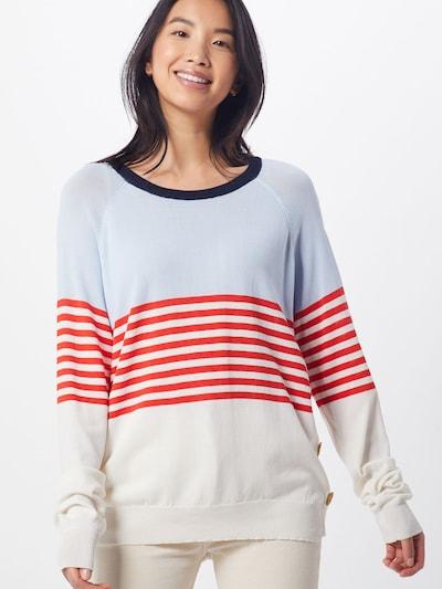 Cream Pullover 'Mimi' in hellblau / rot / eierschale, Modelansicht