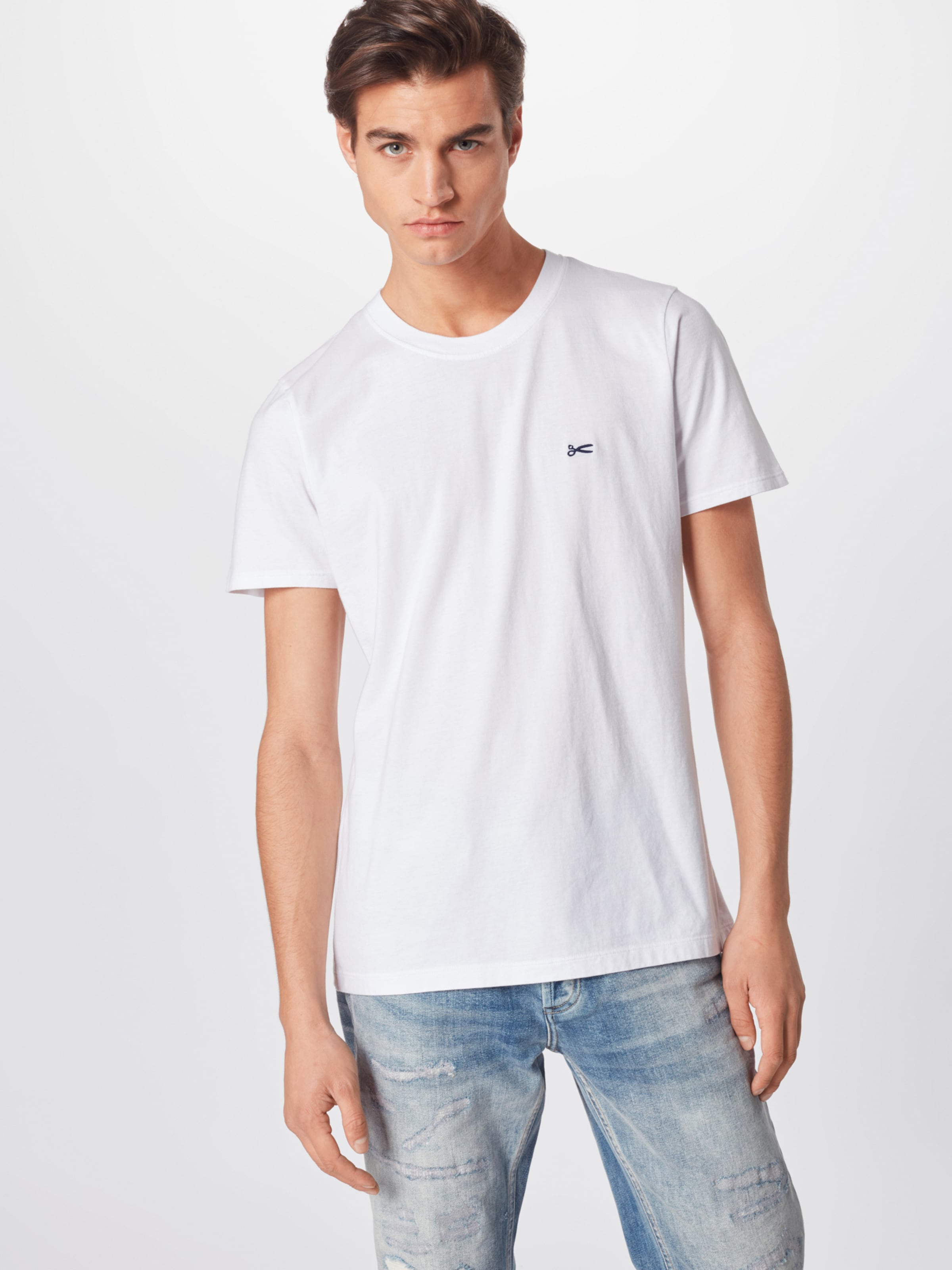 'crew Tee Moj' Denham Shirt In Weiß cl1FKJ3T