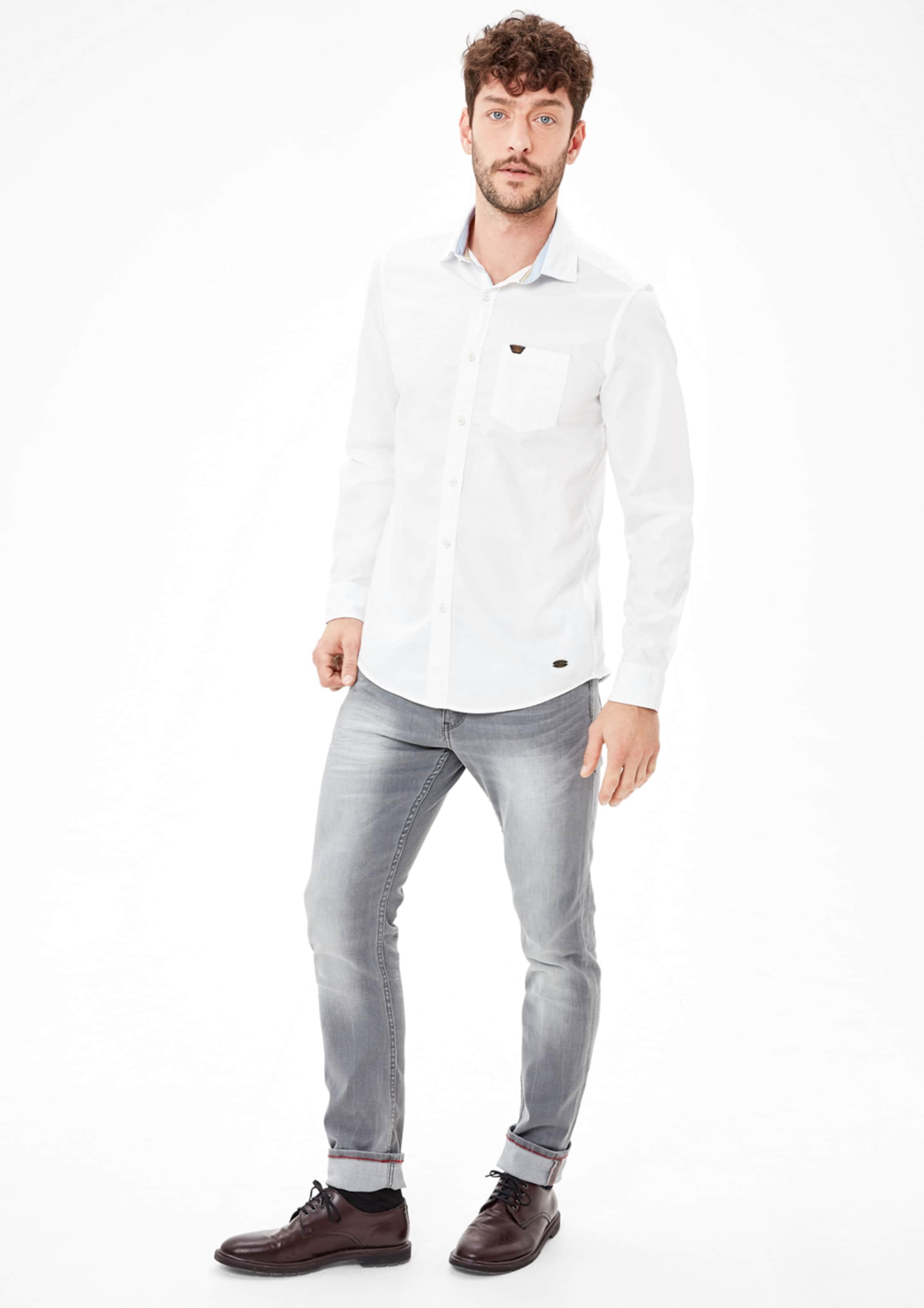 s.Oliver RED LABEL Slim: Hemd aus leichtem Twill Offizielle Seite Zu Verkaufen DMa44H1GR
