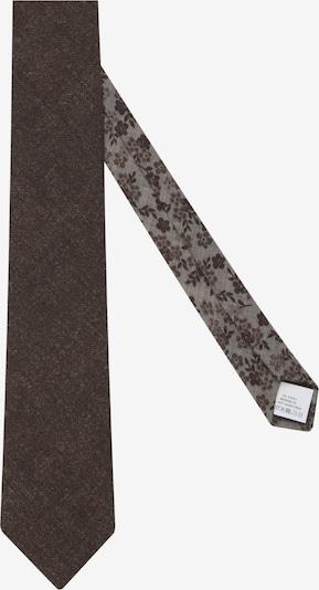 Jacques Britt Krawatte 'Custom Fit' in dunkelbraun: Frontalansicht