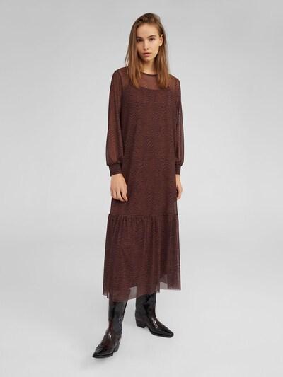 EDITED Robe 'Harriet' en marron / noir: Vue de face