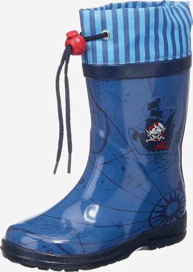 CAPTAIN SHARKY Gummistiefel in blau / hellblau / schwarz, Produktansicht
