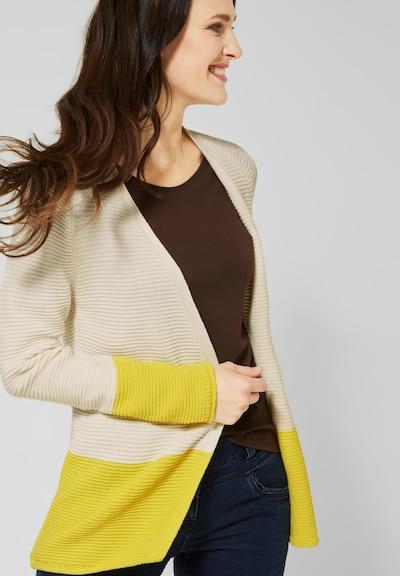 CECIL Strickjacke in beige / gelb, Modelansicht