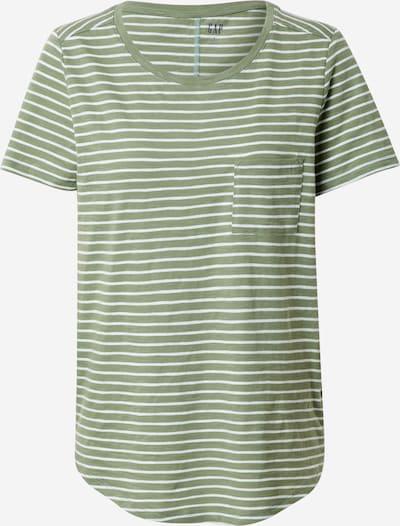 GAP Majica 'V-SS EASY SCOOP STR'   oliva / bela barva, Prikaz izdelka