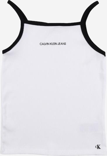 Calvin Klein Jeans Top 'Rib' in schwarz / weiß, Produktansicht