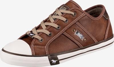 Sneaker bassa MUSTANG di colore marrone / bianco, Visualizzazione prodotti