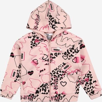 PUMA Sweatjacke 'Alpha' in pink / rosa / schwarz, Produktansicht