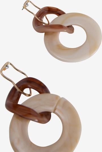 EDITED Boucles d'oreilles 'Efrem' en nude / marron, Vue avec produit