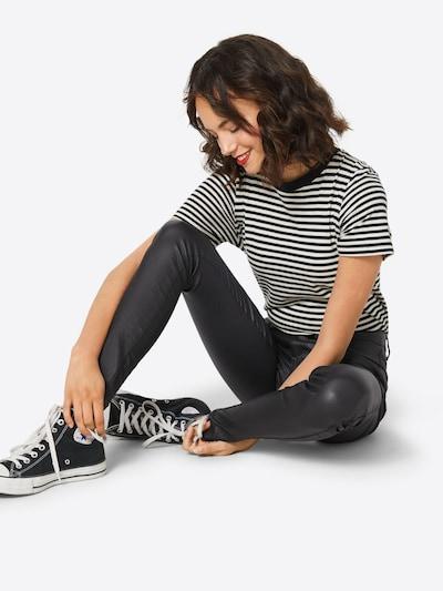 ONLY Hose 'ROYAL ROCK COATED NOOS' in schwarz, Modelansicht