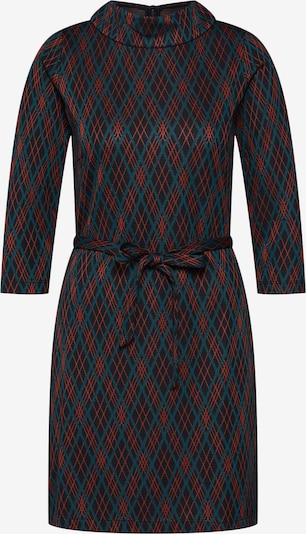 King Louie Kleid 'Dita Dress Argyle' in petrol / orangerot / schwarz, Produktansicht