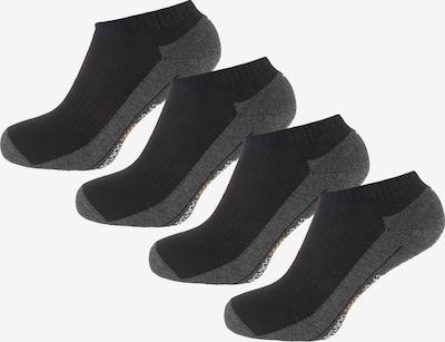 camano Socken in dunkelgrau / hellorange / schwarz / weiß: Frontalansicht