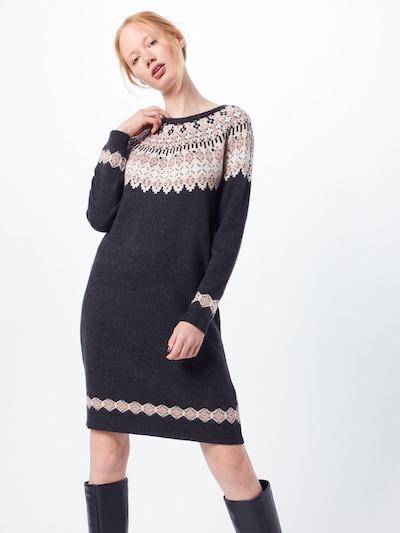 Megzta suknelė iš ESPRIT , spalva - antracito / mišrios spalvos, Modelio vaizdas