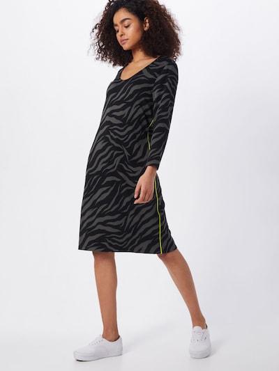 STREET ONE Kleid in graumeliert / kiwi / schwarz, Modelansicht