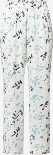 Pantaloni de pijama Hunkemöller pe maro / verde / alb, Vizualizare produs