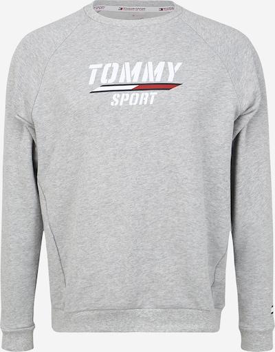 Hanorac sport Tommy Sport pe gri deschis / alb, Vizualizare produs