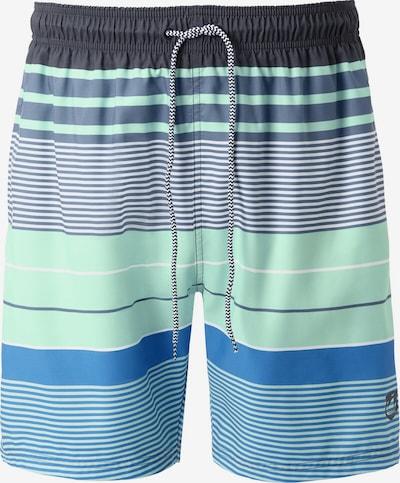 Jan Vanderstorm Shorts de bain 'Koljar' en bleu / marine / bleu foncé / menthe, Vue avec produit